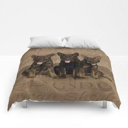 German Shepherd Puppies Comforters
