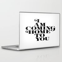 home sweet home Laptop & iPad Skins featuring Home by Maheva K