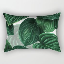 tropical green pattern Rectangular Pillow