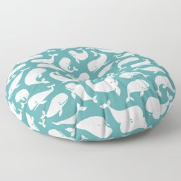 Moby Dick - Turquoise Floor Pillow