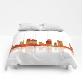 Houston Texas Skyline Comforters