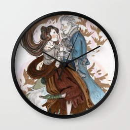 The Silver Wolf Wall Clock