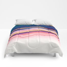Coral Blue agate Comforters