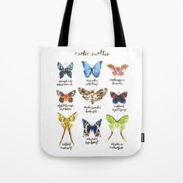 Exotic Moths Tote Bag