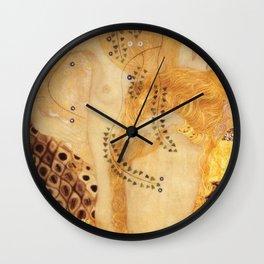 Water Serpents Gustav Klimt Wall Clock