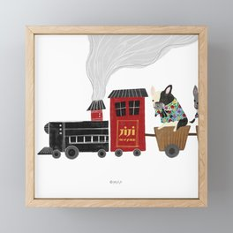 Train_1(puff puff - toot toot) Framed Mini Art Print