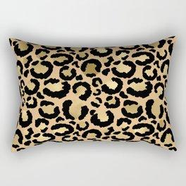 Animal print - natural gold Rectangular Pillow