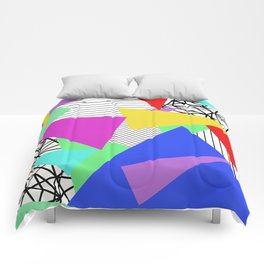Bits And Pieces - Retro, random, abstract pattern Comforters