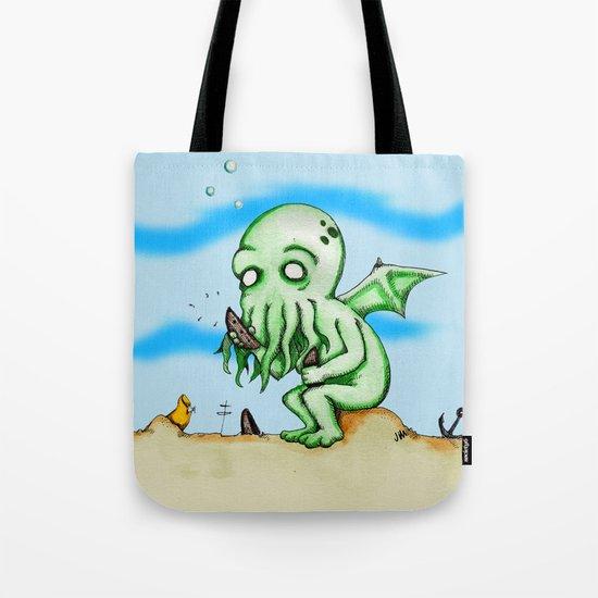 Cthulhu At Play Watercolor/Pen&ink Tote Bag