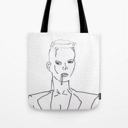 Grace Jones Smoking Tote Bag