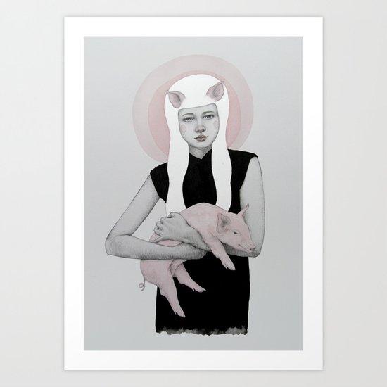 Peonia Art Print