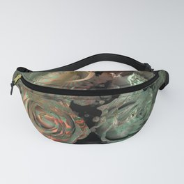 Roses in abstract shapes Fanny Pack