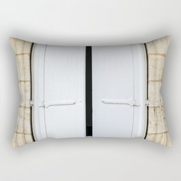 Old fashioned window with shutters Rectangular Pillow