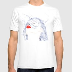 Your Hair MEDIUM White Mens Fitted Tee