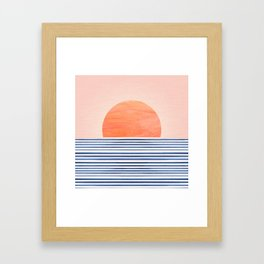Summer Sunrise - Minimal Abstract Framed Art Print