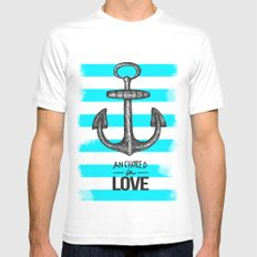 Anchored // Love Mens Fitted Tee MEDIUM White