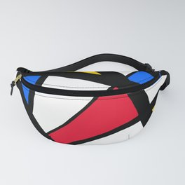 Red, Yellow, Blue Primary Abstract Fanny Pack