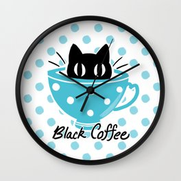 Black Coffee Wall Clock