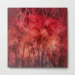 Savage Storm Neck Gator Red Firestorm Metal Print