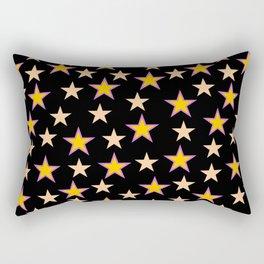 Star pattern on black Rectangular Pillow