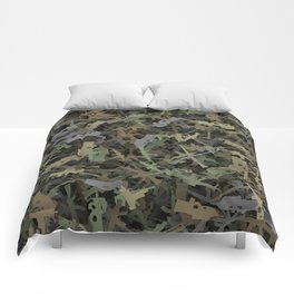 Weapon camouflage Comforters