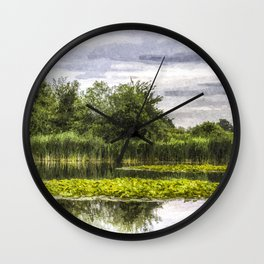 Lily Pond Art Wall Clock