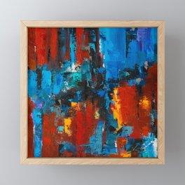 When Red and Blue Meet Framed Mini Art Print