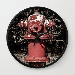 East Jordan Iron Works WaterMaster Peeling Red Fire Hydrant Fire Plug Wall Clock