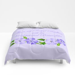 Royal Doulton with Hand Painted Periwinkles Comforters
