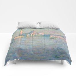 """Claude Monet """"The Church of San Giorgio Maggiore, Venice"""" Comforters"""
