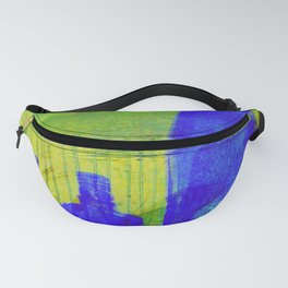 Blue Glass Bottles Fanny Pack
