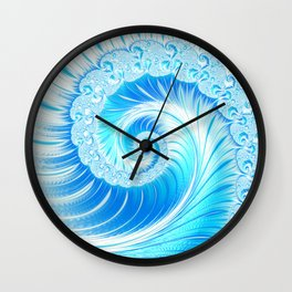 Frozen Vortex Wall Clock