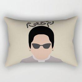 """Umm Kulthum """" Arabic legendary singer """" ام كلثوم Rectangular Pillow"""