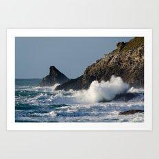 Atlantic splash Art Print