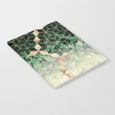 Leaves And Cubes Notebook