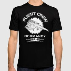 Normandy Flight Crew LARGE Mens Fitted Tee Black