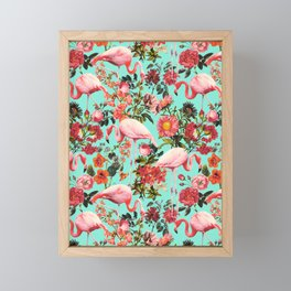 Floral and Flemingo IV Pattern Framed Mini Art Print