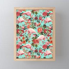 Floral and Flemingo IV Pattern Framed Mini Art Print