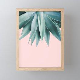 Agave fringe - blush Framed Mini Art Print