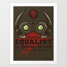 Equalist in Training Art Print
