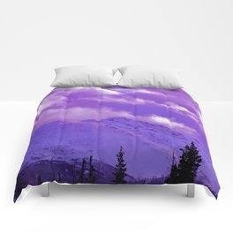 2493 Ultra_Violet Storm Over Flat_Top Comforters