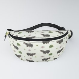 Hippos and Flowers Fanny Pack
