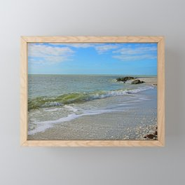 The Beach at Boca Framed Mini Art Print