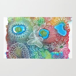 Water colors 1 - Rainbow corals Rug