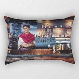 Frida at bar Rectangular Pillow