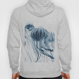 Minimalist jellyfish - abstract art Hoody