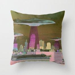 UFO Sightings- KC skyline Throw Pillow