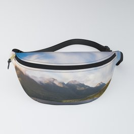 Glorious Light early in the Morning on Lake Manapouri Fanny Pack