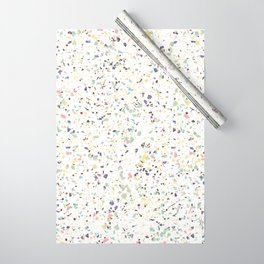 Classy vintage marble terrazzo pastel abstract design Wrapping Paper