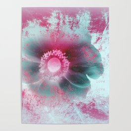 You are my love flower Poster